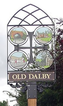 Old Dalby Sign