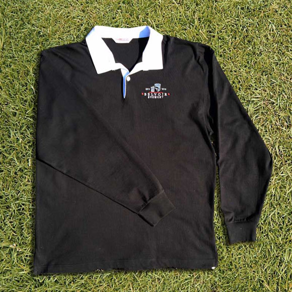 Belvoir Brewery Black Long Sleeve Rugby Shirt