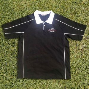 Belvoir Brewery Black Short Sleeve Rugby Shirt